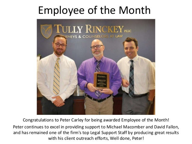Employee of the Month Congratulations to Peter Carley for being awarded Employee of the Month! Peter continues to excel in...