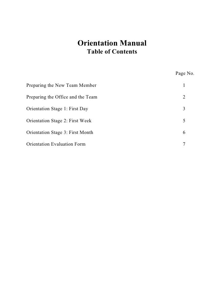 Employee Orientation Manual