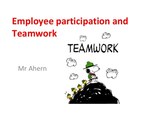 employee involvement and participation analysis Employee involvement and participation q 1 what are the strategic principles to adopt for the employee involvement and participation one of the most common methods used to create qwl is employee involvement.