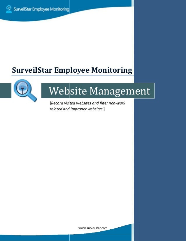 Website [Record visited websites and filter non related and SurveilStar Employee Monitor www.surveilstar.com Website Manag...