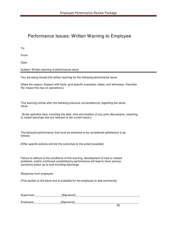 100 verbal warning template letter sample letter written