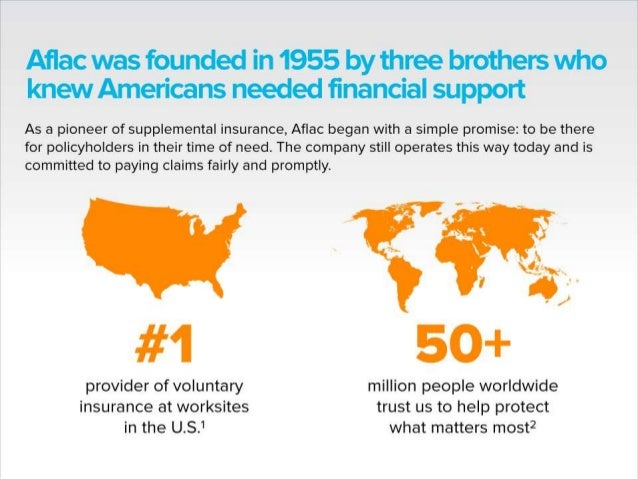 Aflac was founded in 1955 bythree brothers who knew Americans needed financial support  As a pioneer of supplemental insuran...
