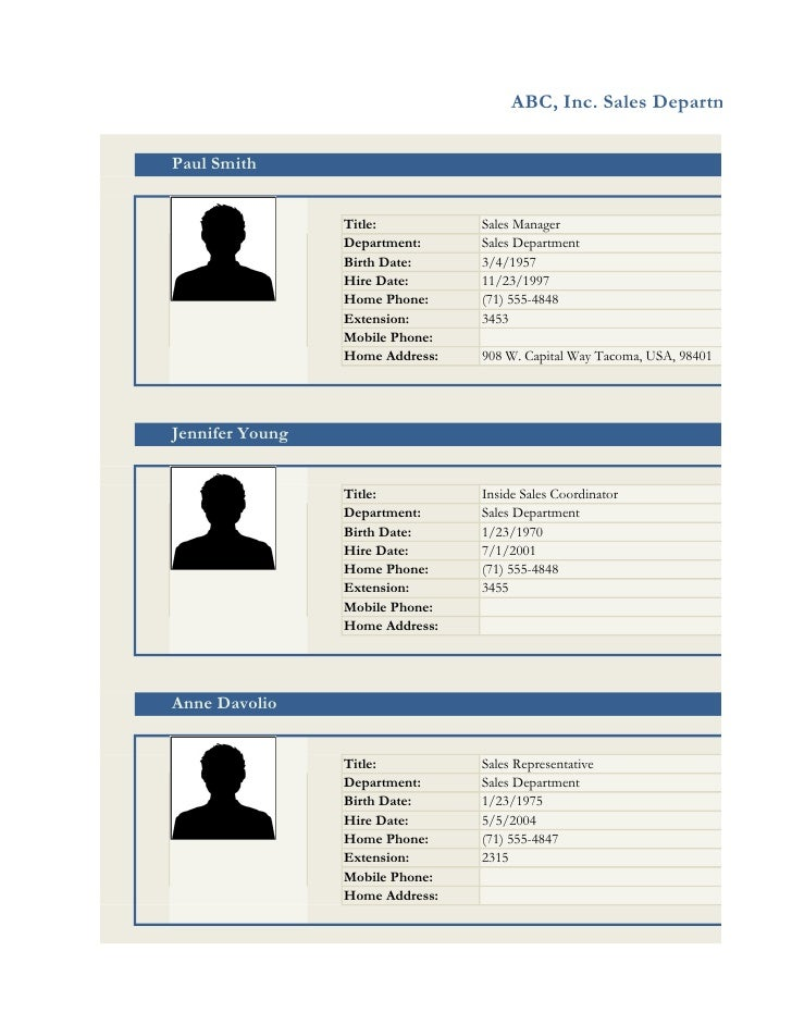 Employee Profile Online
