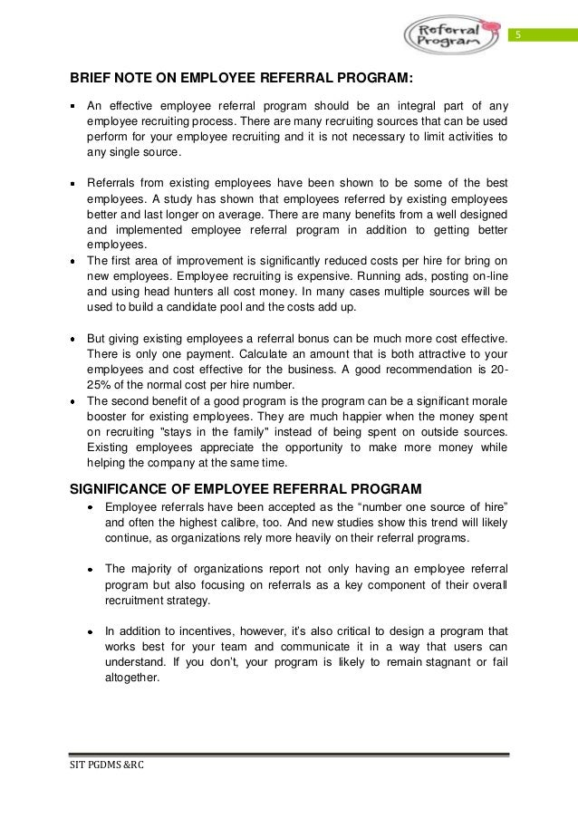 Employee referral program pdf