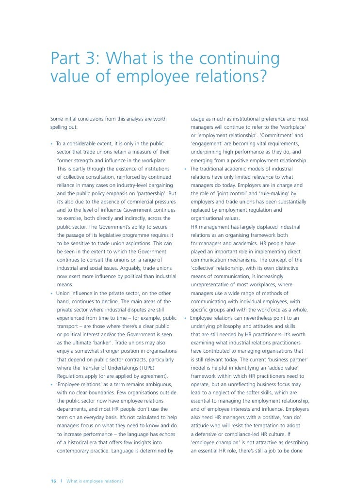 employer and employee relationship paper