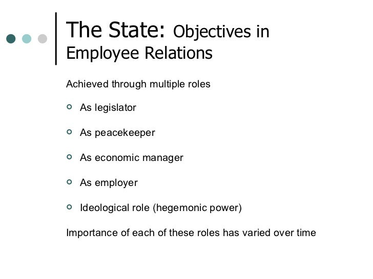Employee relations lecture 7 the state
