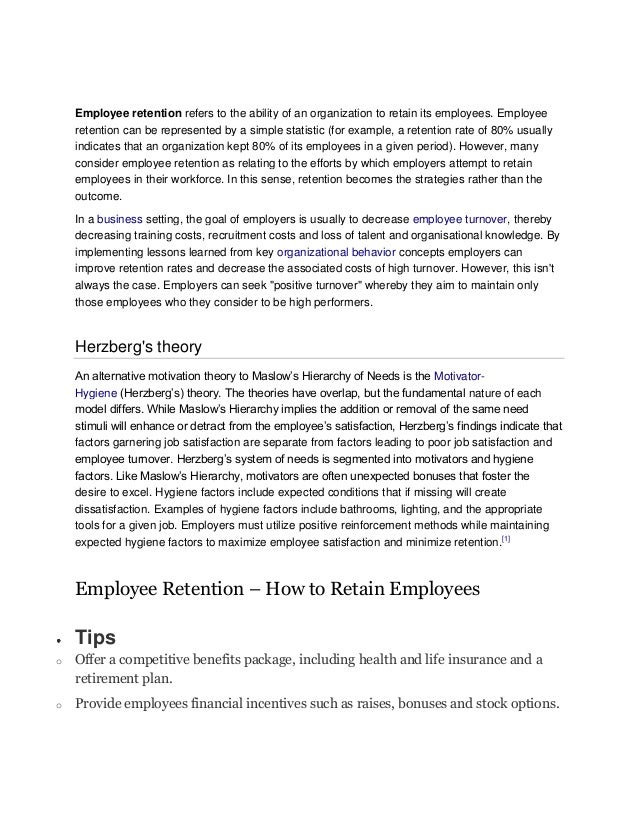 positive approaches to staff retention