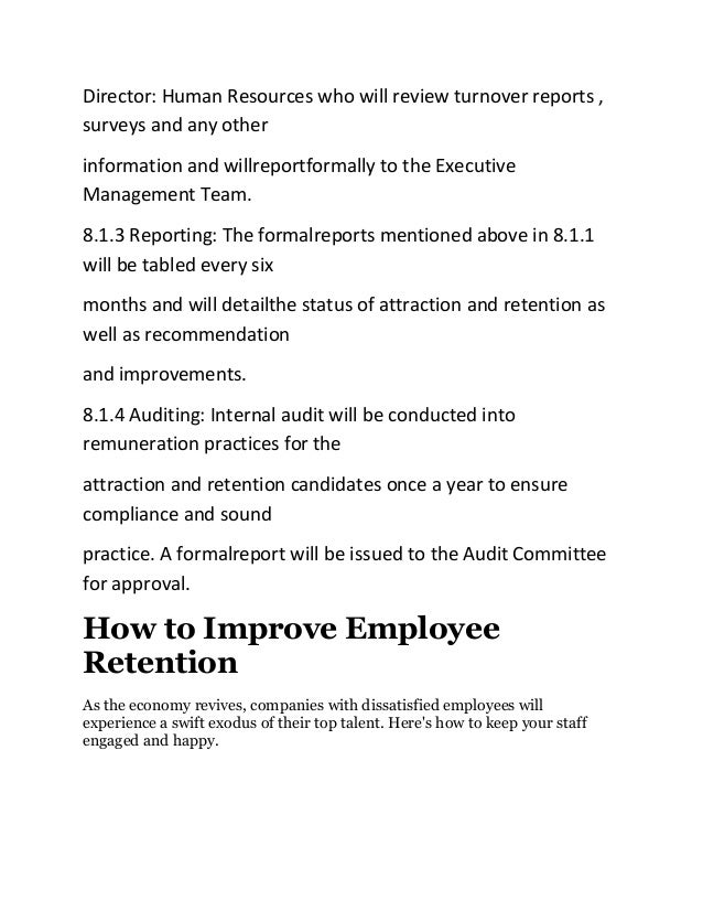 Review of literature on employee retention project