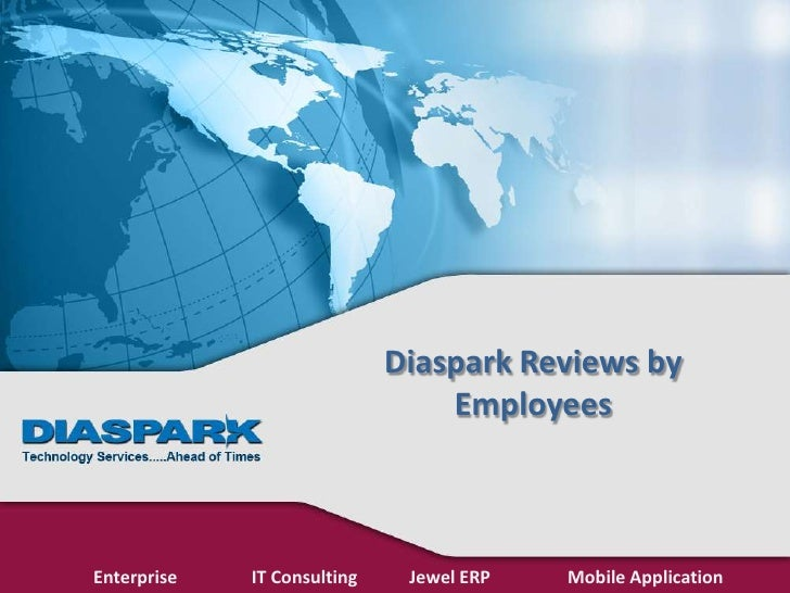 Diaspark Reviews by                                 EmployeesEnterprise   IT Consulting    Jewel ERP   Mobile Application
