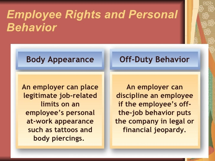 employer rights and responsibilites essay Questions and answers for employees: in order to help people better understand their rights, the u s equal employment opportunity commission the eeoc has also prepared a companion document that answers questions about employer responsibilities.