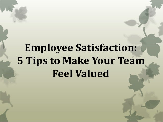 improving a teams motivation satisfaction and How to improve job satisfaction and increase employee engagement job satisfaction is critical to high productivity, motivation and low employee turnover employers face the challenges of finding ways to increase job satisfaction so their businesses stay competitive.