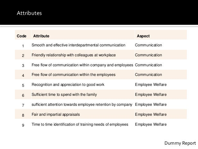 Employee satisfaction survey for xyz company