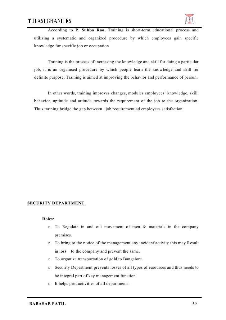 employee satisfaction project report mba pdf
