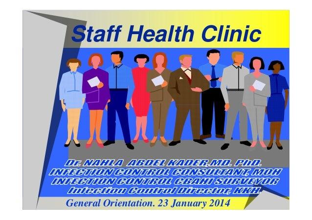 Staff Health Clinic  General Orientation. 23 January 2014