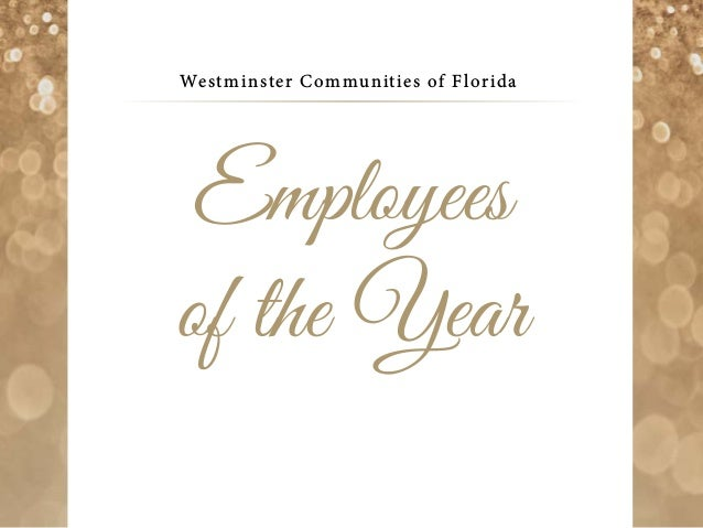 Westminster Communities of Florida Employees of the Year
