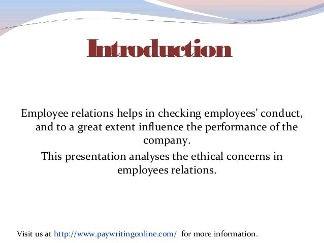 walmart ethical assignment employee relations To ask a question or report a violation, contact walmart global ethics at www walmartethicscom or call us at  of ethics walmart strictly forbids retaliation  against any associate who reports a concern  relations firms, contractors and  other service providers to act  all persons we hire or send on a global  assignment to a.