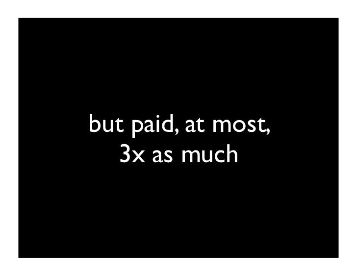you're usually paid less    than your boss.