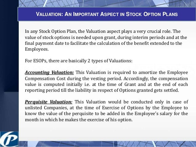 valuing employee stock options calculator
