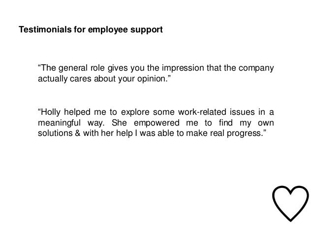 Employee support in house coaching and how it works testimonials for employee altavistaventures Choice Image
