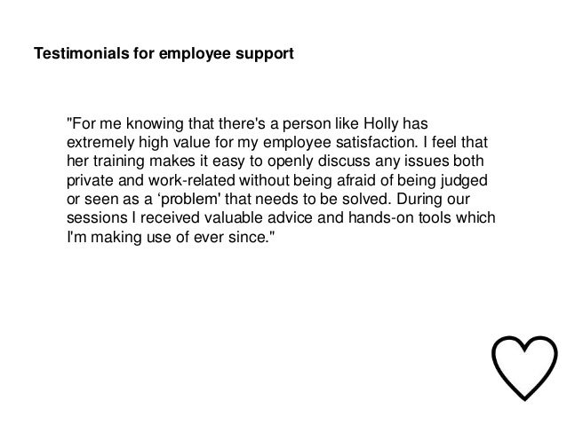 Employee support in house coaching and how it works testimonials for employee altavistaventures Gallery