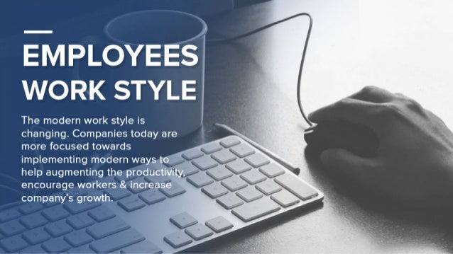 )  E—MPLOYEES WORK STYLE  The modern work style is changing.  Companies today are more focused towards implementing modern...