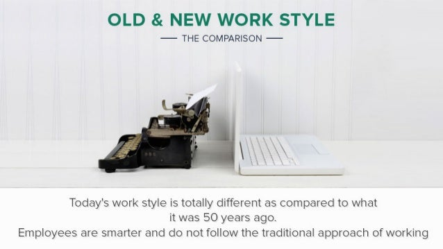 Employees Work Style Then & Now Slide 2
