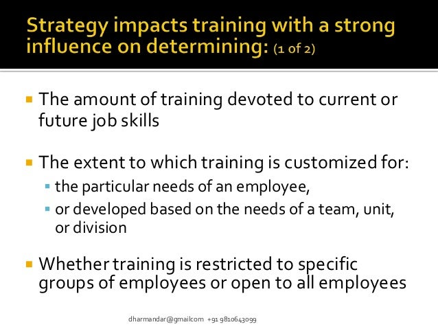 the importance of employee selection and training Impact of organizational culture on human  ment and selection, training and development  accurate employee selection decisions have never been more important.