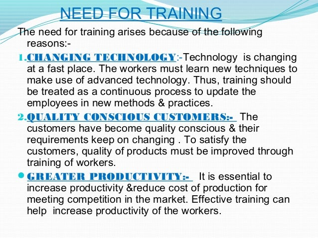 training and development importance