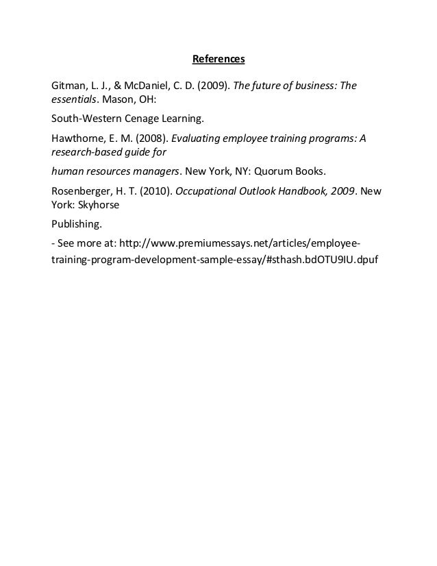 Management development program essay