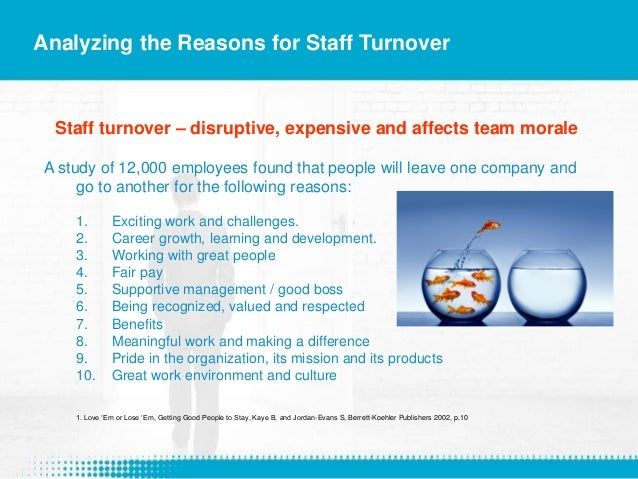 Employee turnover and maximizing staff retention