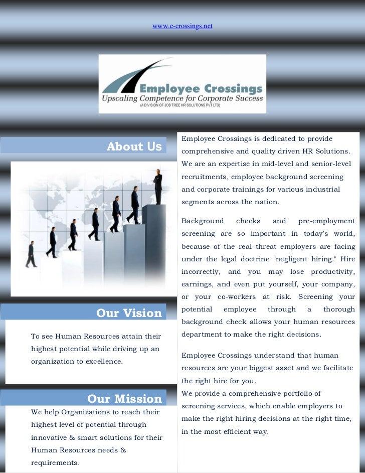 www.e-crossings.net                                              Employee Crossings is dedicated to provide               ...