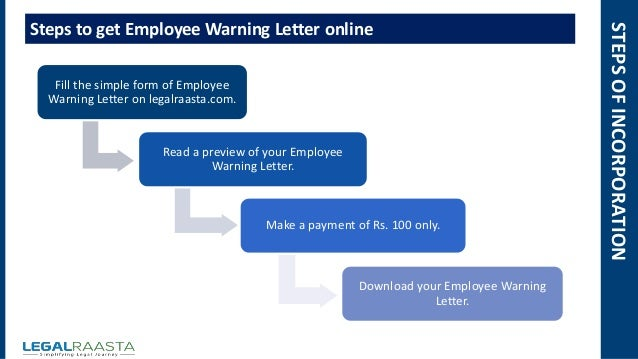 Employee warning letter format template legalraasta warning letter online 100 5 stepsofincorporation fill the simple form spiritdancerdesigns Choice Image