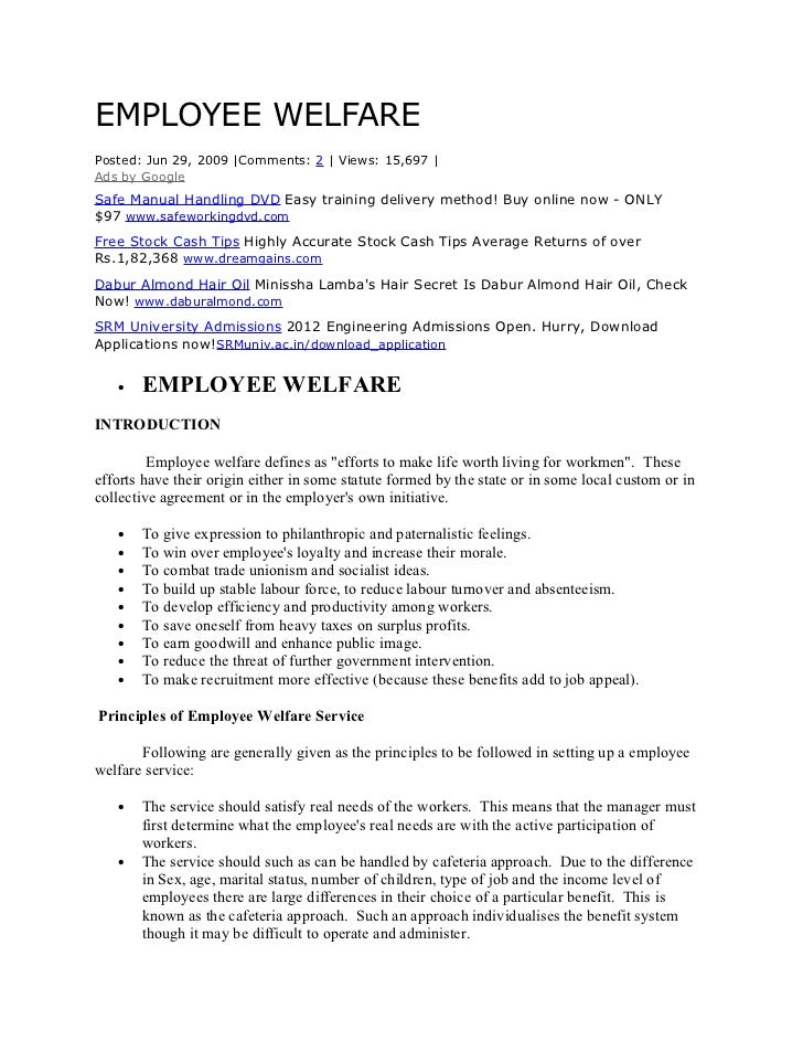 EMPLOYEE WELFAREPosted: Jun 29, 2009 |Comments: 2 | Views: 15,697 |Ads by GoogleSafe Manual Handling DVD Easy training del...