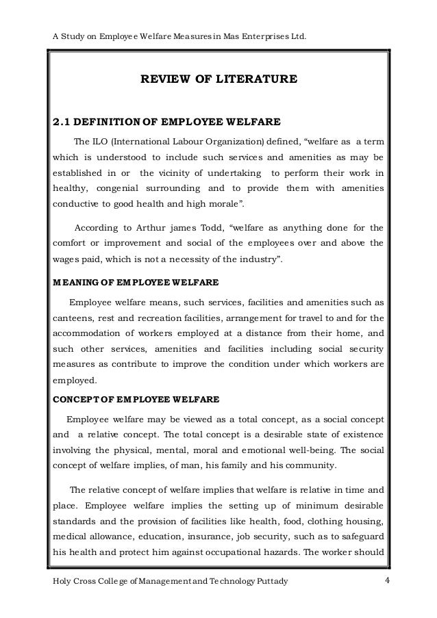 Employee welfare measures