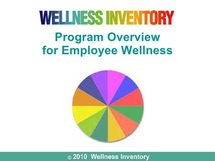 Program Overview for Employee Wellness