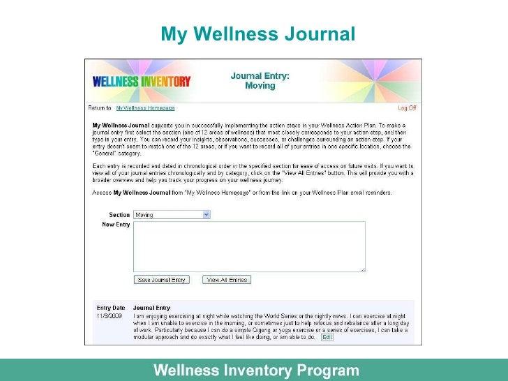 wellness journal template