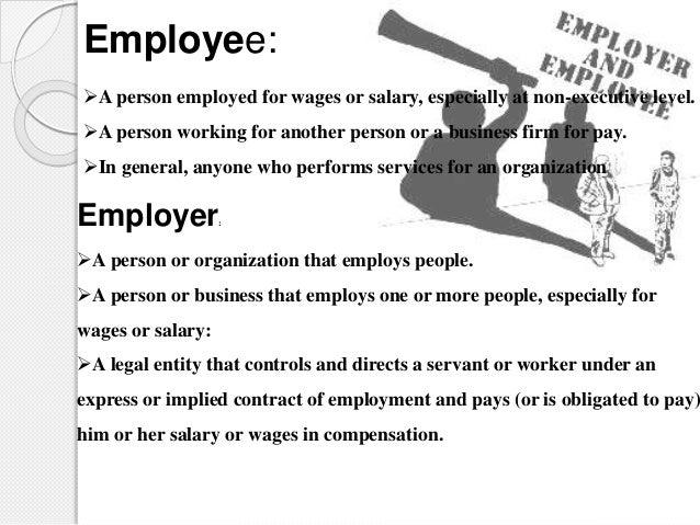 employer employee relationship laws