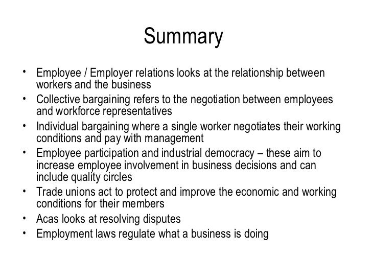 Difference between an Employee and an Employer