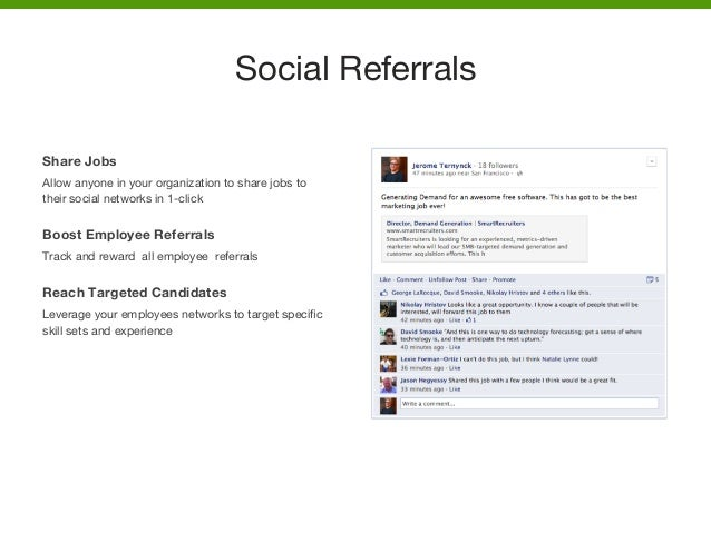 Share Jobs Allow anyone in your organization to share jobs to their social networks in 1-click  Boost Employee Referrals T...