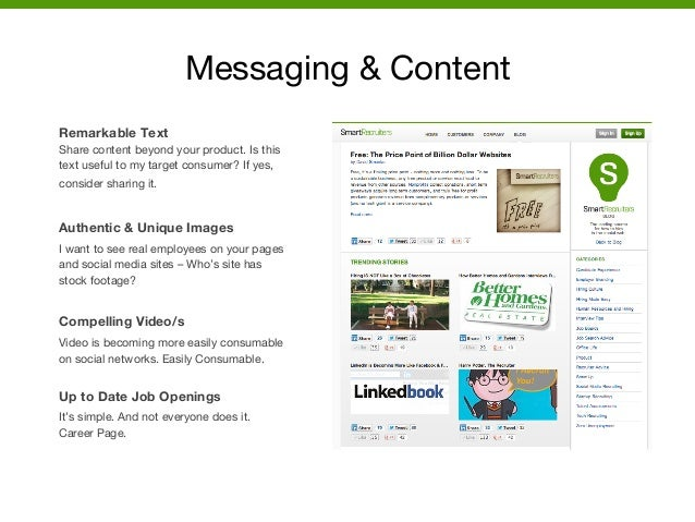 Messaging & Content  Remarkable Text Share content beyond your product. Is this text useful to my target consumer? If yes,...