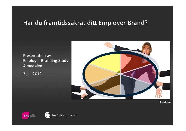 Har du fram)dssäkrat di/ Employer Brand? Presenta)on av  Employer Branding Study Almedalen      ...