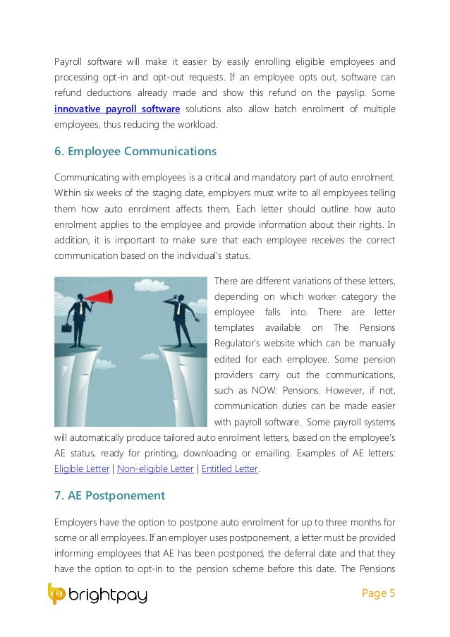 Employer checklist to ensure auto enrolment is covered 6 spiritdancerdesigns Image collections