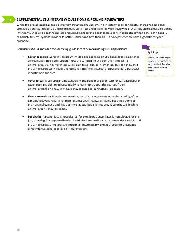 19 T10; 20. SUPPLEMENTAL LTU INTERVIEW QUESTIONS U0026 RESUME REVIEW TIPS ...