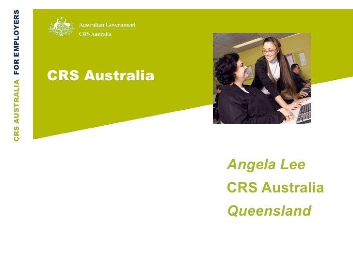 CRS Australia Angela Lee CRS Australia  Queensland