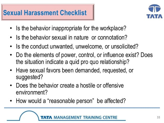 Forms of sexual harassment in the workplace