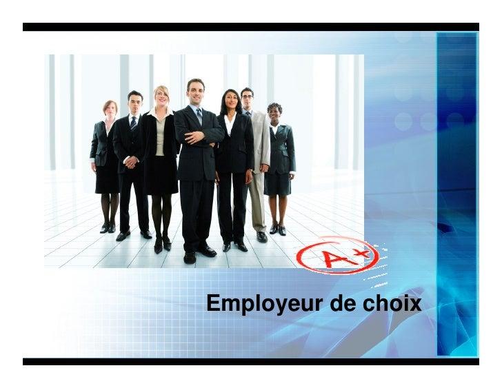 Employeur de choix