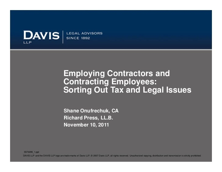 Employing Contractors and                                       Contracting Employees:                                    ...