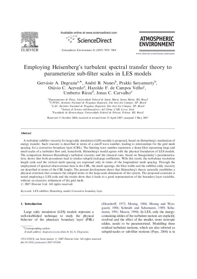 ARTICLE IN PRESS                                    Atmospheric Environment 41 (2007) 7059–7068                           ...