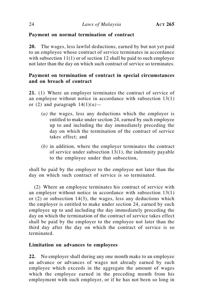 assigment employment act 1955 (1) what is the employment act, 1955 it is the labour law in malaysia - that's what actually it is just one of the many sets of labour laws found in this country.