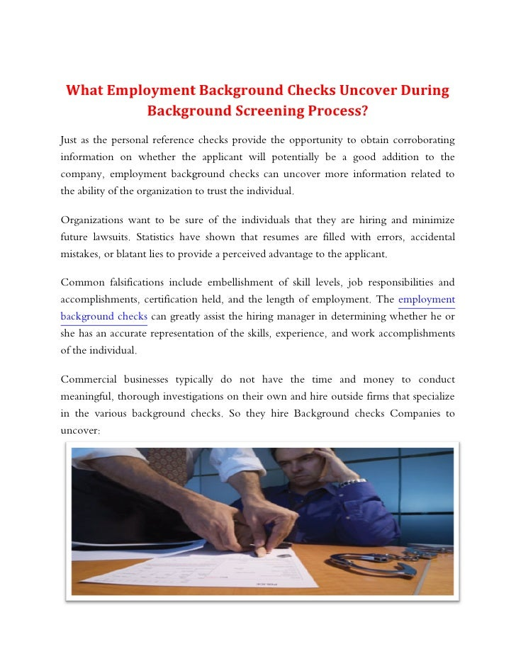 What Employment Background Checks Uncover During Background Screening Process?